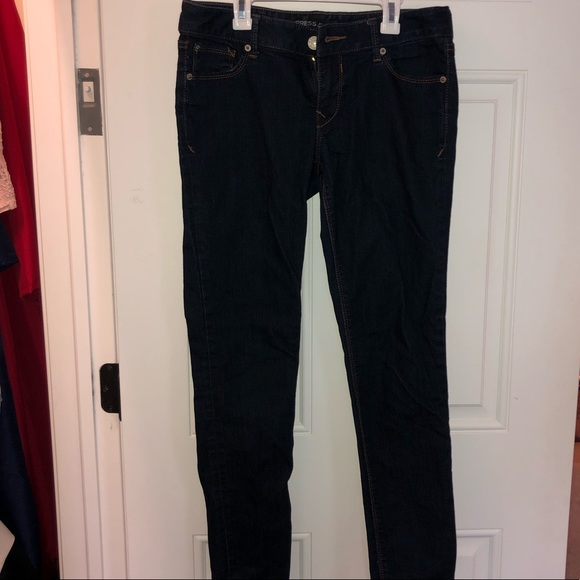 Express dark navy skinny jeans size 8